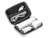 Travel set - Powerbank, EU Plug, USB Charger