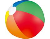 Multicolour beach ball Palm Springs