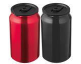 Taza con apariencia de lata metálica