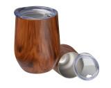 Taza de acero inoxidable con aspecto de madera Brighton