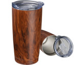 Taza de acero inoxidable con aspecto de madera Costa Rica